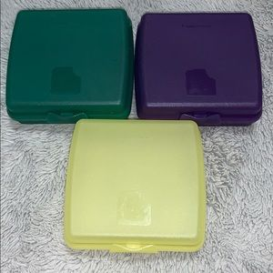 Bundle of 3 Tupperware Sandwich Containers